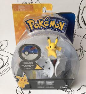Pokemon Tomy Throw 'N' Pop  Pokeball Pikachu Figure Poke Blue Ball BRAND NEW