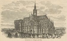 C8750 Germani - Cologne - The Cathedral - Stampa antica - 1892 Engraving