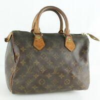 LOUIS VUITTON SPEEDY 25 Hand Bag Doctor Purse Monogram M41528 Brown