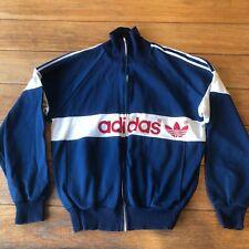 Vintage Adidas 1982 Tracksuit Jacket Trefoil Logo