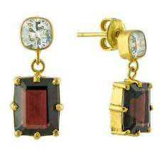 Blood Moon Cubic Zirconia and Garnet Earrings: Museum of Jewelry