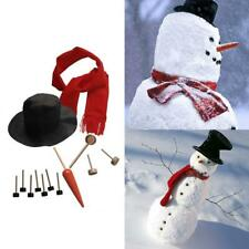 Delicate Snowman Kit Winter Holiday Outdoor Toys Christmas Gift Snowman Dress Up