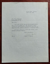 Elmer Layden Notre Dame 1941 Autograph Letter 4 Horsemen JSA Certified Auto