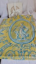 Vintage Fabric Yellow Blue Panel Artemis & Aphrodite Cherubs Neo Classical 310cm