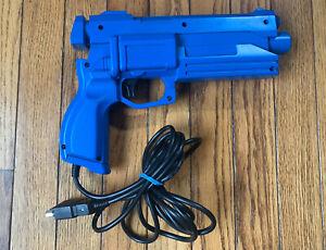 Sega Saturn Stunner Light Gun MK-80113 TESTED WORKING Blue Rare