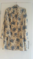 Vintage ladies 70s cotton floral  suit retro superb