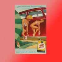 Macs Speed Glaze Vinyl Decal Sticker Car Truck Vintage Pinup Gril Race Garage