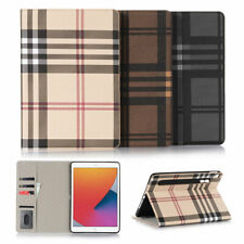 Luxury Grid Folio Leather Wallet Stand Magnetic Smart Case Cover For Apple iPad