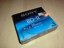 3x Sony Blu-ray / BD-R Rohlinge / 25GB Speicherkapazität, 1-6x Speed, OVP&NEU