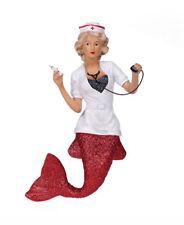 December Diamonds Figure Ornament Nurse Naughty Uniform Glitter Mermaid Statue