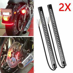 2X 48LED Motorcycle Light Strip Rear Tail Brake Stop Turn Signal Lamp Flexible