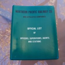 Northern Pacific NP Railroad Official List of Stations Officiers Manual 6 Ring