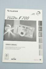 ORIGINAL MANUAL: FinePix F700 Digital Camera