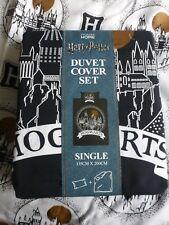 Harry Potter HOGWARTS Reversible SINGLE Duvet Cover Set with 1 pillow case BNWT