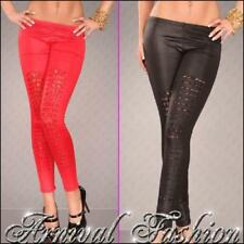 Polyester Ripped Pants for Women