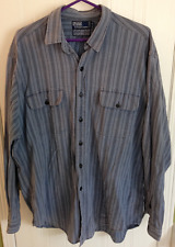 Ralph Lauren Stripe POLO Blue Grey XL