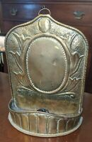 Antique Hanging Brass Candle Sconce Candleholder Punch Decorated