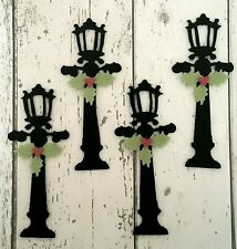Felt Lamppost & Holly die cut for Christmas Craft and embellishment