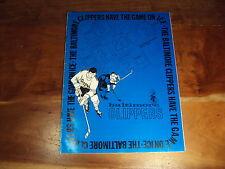 1971-1972 Balt. Clippers Richmond Robins AHL Program Rick MacLeish Bill Clement