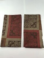 2 Mainstays Pillow SHAMS Brown Red Pattered Standard Modern Classic Pillowcases