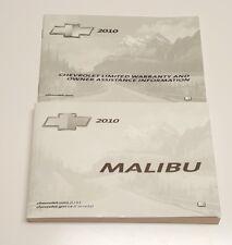 2010 CHEVROLET MALIBU OWNERS MANUAL USER GUIDE LTZ LT2 LT1 LS V4 2.4L V6 3.6L S