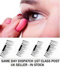 2 Pairs Magnetic Eyelashes Reusable False Eye Lashes Natural No Glue 4 Pieces UK