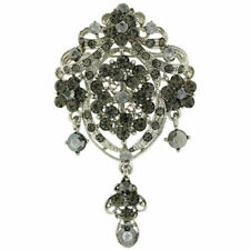 Diamond Flowers Costume Brooches & Pins