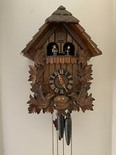 Bavarian Black Forest Cuckoo Clock, Hand Carved Musical, 1 Day - See Video