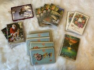VTG - LOT 14 Leanin' Tree PACKAGES (10 cards/envelopes) CHRISTMAS - 140 Cards!!!