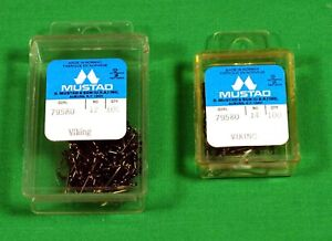 Mustad  Fly Tying Hooks 2 boxes of 100  Streamer  NEW  Unopened 200 Total