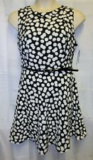 NWTAB Studio16 1x Dress Black White DotCareer Church Modest Tea Belt