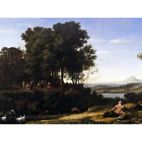Lorrain Landscape Apollo Muses Mythology Painting Large Canvas Art Print