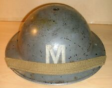 WW-II Royal Air Force-issued Messenger Brodie Steel Helmet & Chinstrap 1940/41