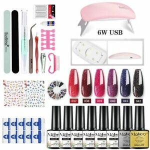 Acrylic Nail Kit Hybrid Varnishes Base Top For UV Gel LED Lamp Gel Kits Manicure