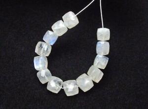 15 pcs RAINBOW MOONSTONE 6-7mm Cube Beads NATURAL