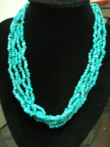 Carolyn pulleckl Turquoise 17 Inch Length Multi Strand Necklace  3 In  Extender