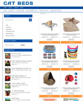 FULLY STOCKED CAT BEDS WEBSITE WITH DOMAIN - EASY TO RUN - + 1 YEARS HOSTING