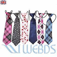 New kids, Boys ties children Unisex pretied Elastic neck ties Wedding Silk Print