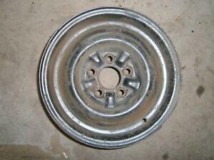 "1957 1958 1959 Ford 14"" Steel Wheel No Slot Ranchero Custom Fairlane Galaxie"