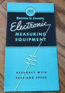 Vintage BROWN & SHARPE Electronic Measuring Equipment with Prices Brochure USA