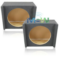 "(2) SHALLOW-MOUNT MDF DOWNFIRE CAR SUB WOOFER ENCLOSURE BOXES for 12"" SUBWOOFERS"