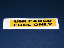 range rover classic soft dash fuel decal 3.9 and 4.2  unleaded
