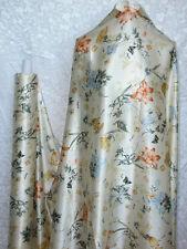 100% Silk Charmeuse Fabric Vintage Grader Flower Per Yard