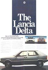 Lancia Delta 1500 1980-82 original del Reino Unido folleto de ventas