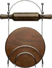 Stainless Steel  Rolling Pin Holder ( Chakla Belan Stand )