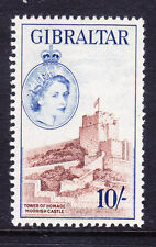 GIBRALTAR QEII 1953 SG157 10/- reddish-brown & ultramarine unmounted mint cat£45