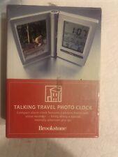 Brookstone talking travel photo clock