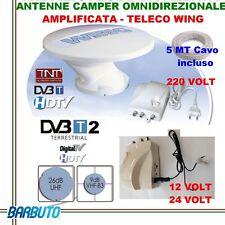 ANTENNA TV DA CAMPER O BARCA -TELECO WING OMNIDIREZIONALE A 360°+AMPLIFICATORE