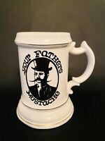 Vintage Your Fathers Mustache Cup Mug Beer Stein USA 5th Ave New York 2169 EUC