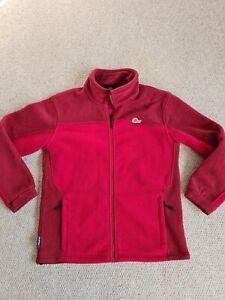 Mens Lowe Alpine Size M Red Polartec Fleece Full Zip Long Sleeve Jacket